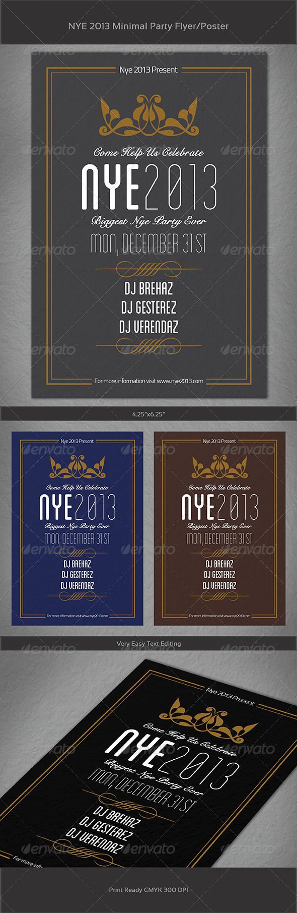 GraphicRiver Happy New Year 2013 Simple Flyer 3520953