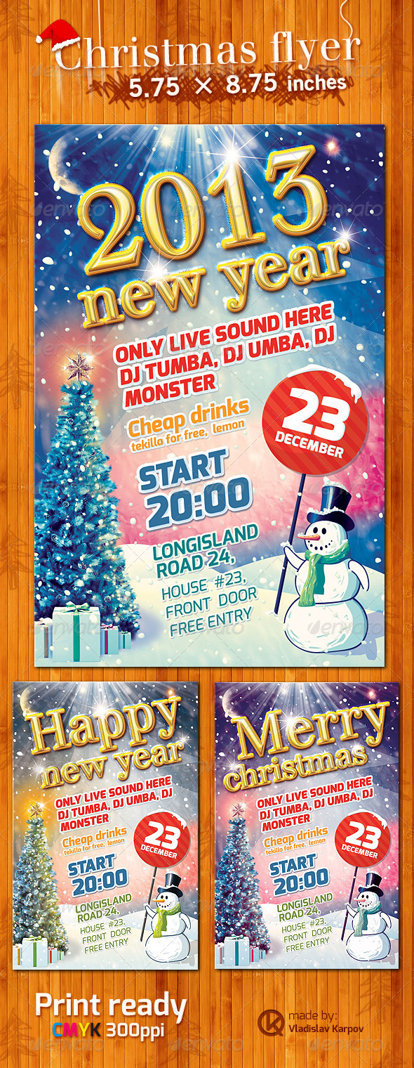 GraphicRiver Christmas Flyer 3527370