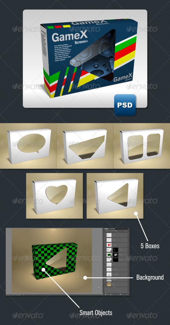 GraphicRiver 5 Product Packaging Mock-Ups 3583136