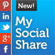 jQuery My Social Share - CodeCanyon Item for Sale