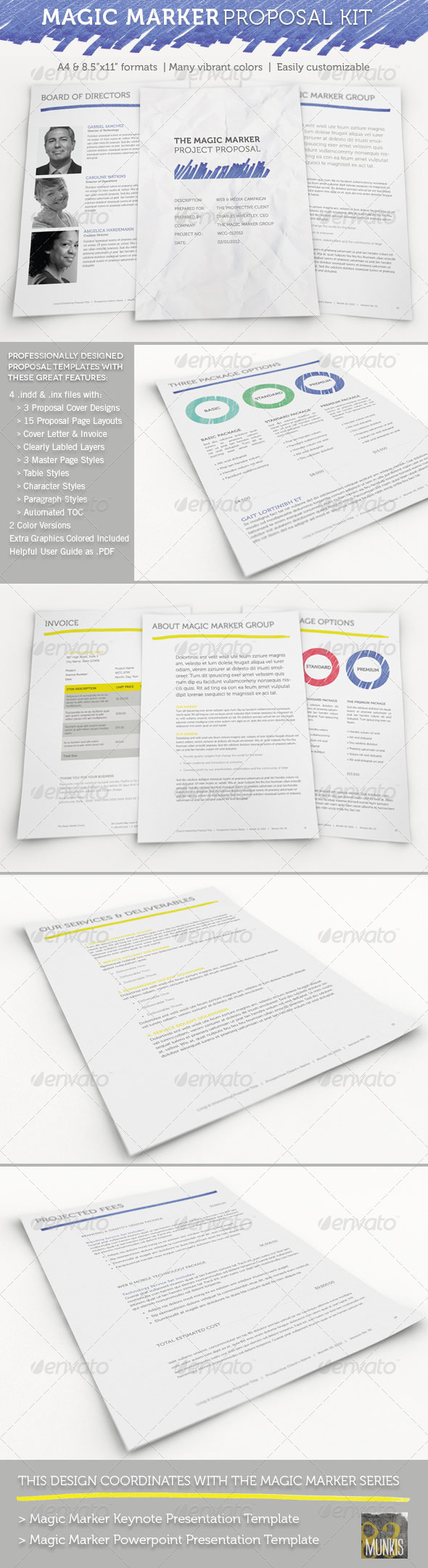 Magic Marker Business Proposal Template - Proposals & Invoices Stationery