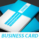 Modern Blue Business Card - GraphicRiver Item for Sale