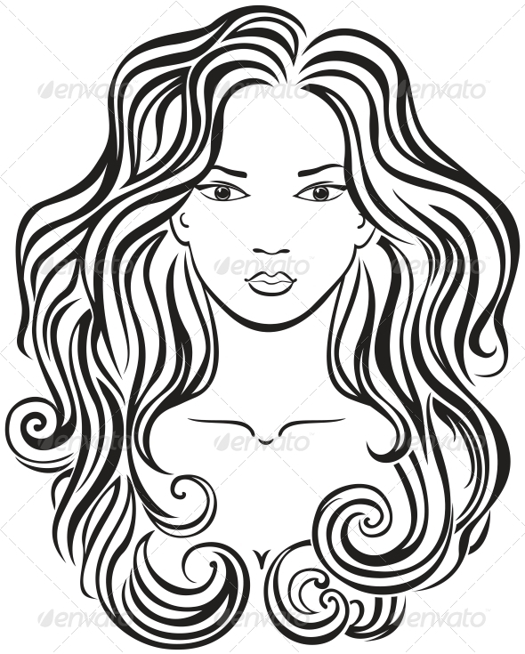 pretty girl face coloring pages - photo#18