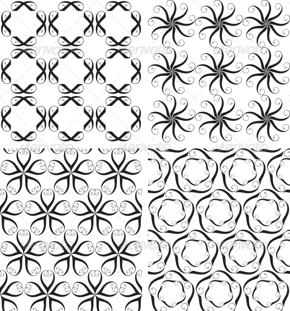 GraphicRiver Four Seamless Patterns 3583564