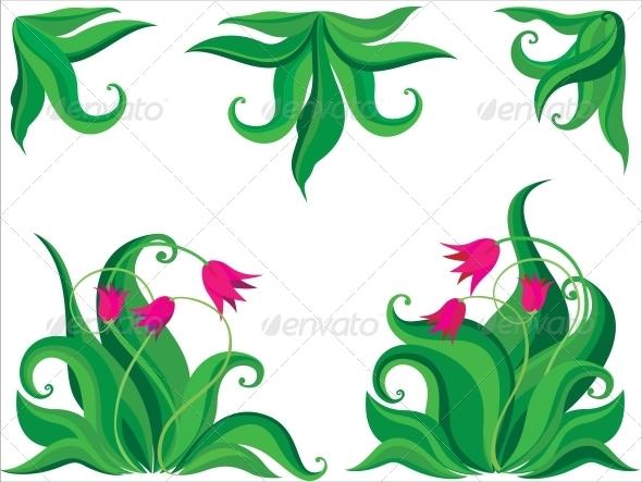 GraphicRiver Ddecorative Tulips 3583569