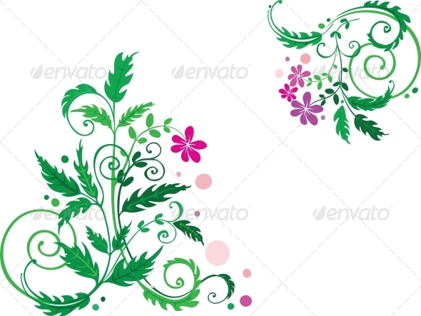 GraphicRiver Decorative Flowers 3583570