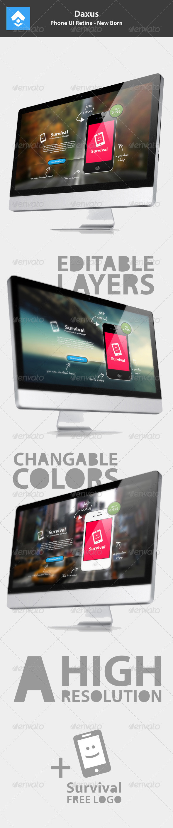 GraphicRiver Phone App Presentation Pure 3305053