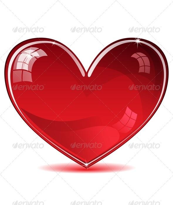 Red Shiny Heart - Valentines Seasons/Holidays
