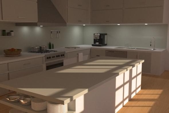 Modern Kitchen - 3DOcean Item for Sale