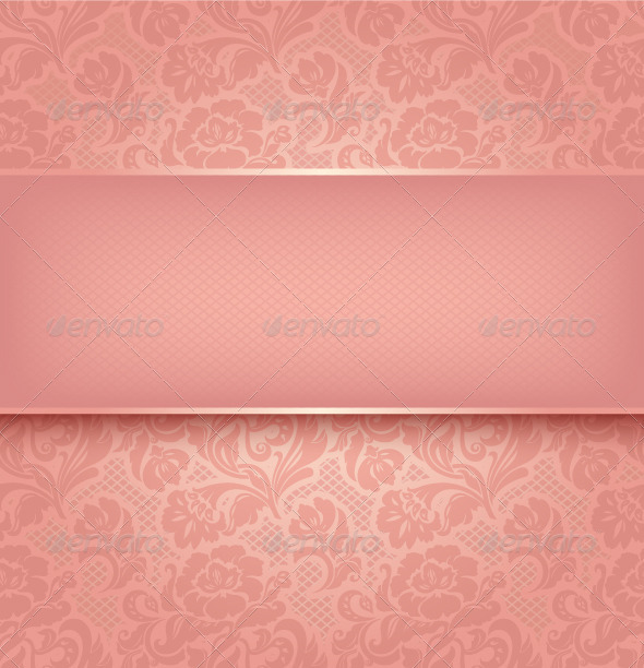 GraphicRiver Lace Background Pink Ornament 3583770