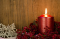 Single candles Christmas decoration