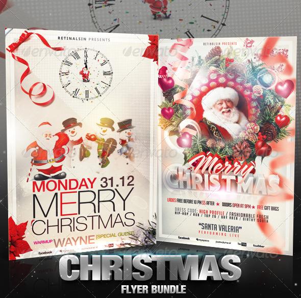 GraphicRiver Christmas Flyer Bundle 3584277