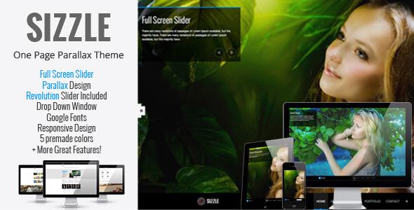 ThemeForest Sizzle OnePage Responsive Parallax Theme 3550199