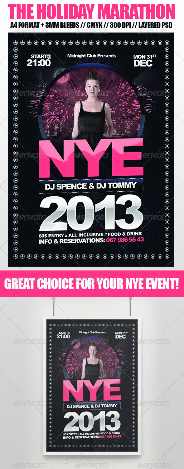 New Year s Eve Modern Flyer