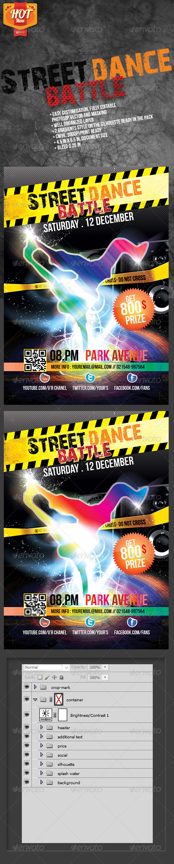 Street Dance Battle - Events Flyers