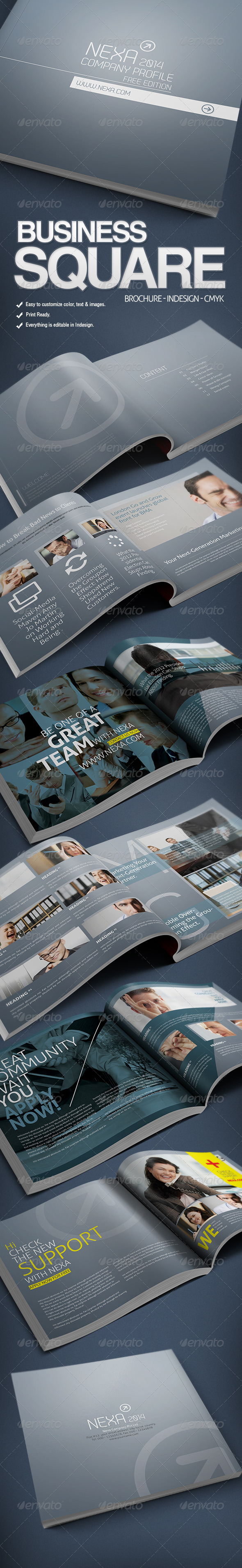 GraphicRiver Business Square Brochure 3584952