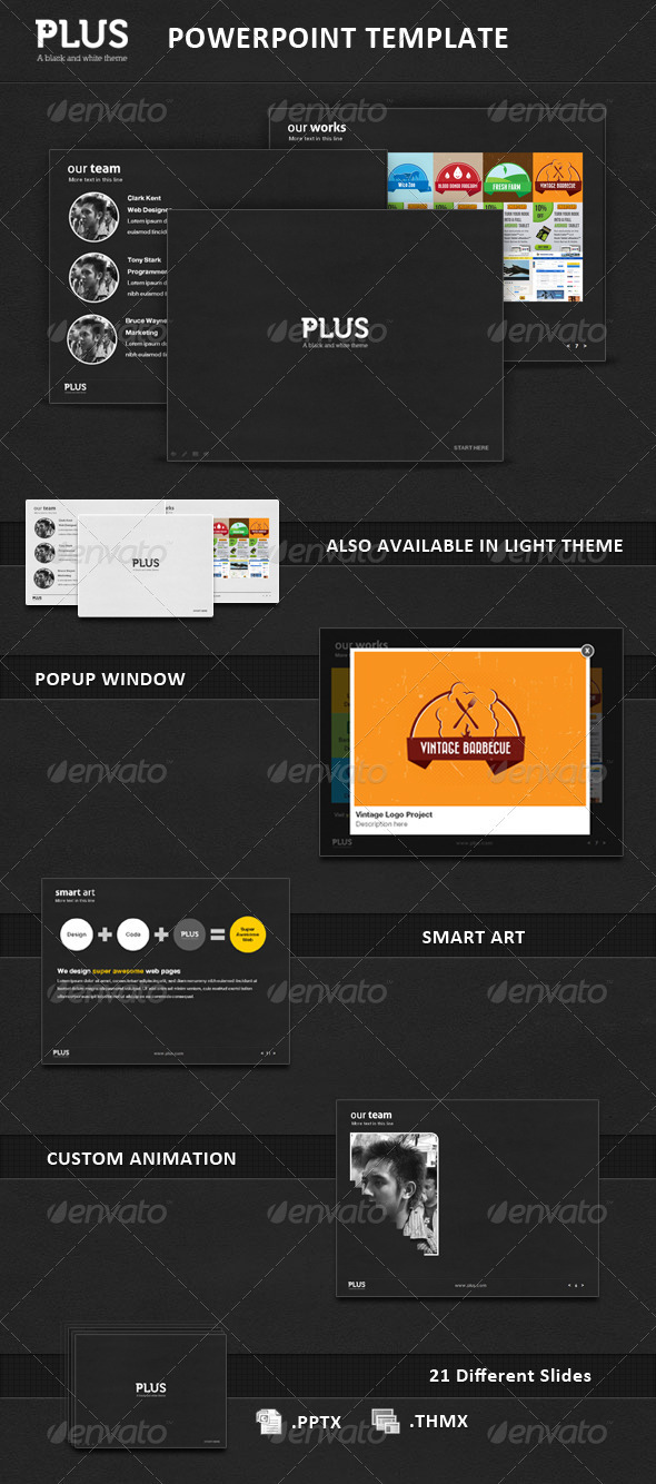 GraphicRiver Plus Presentation Template 3585071