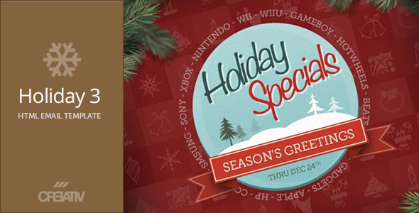ThemeForest Holiday 3 HTML Email 3585136