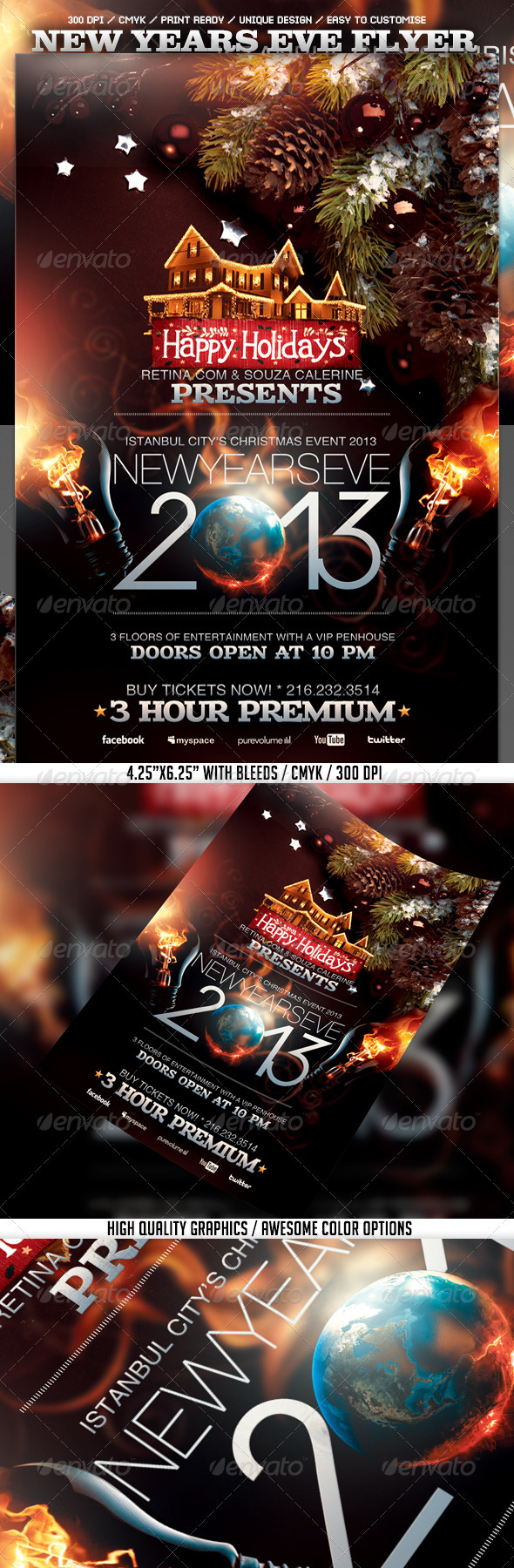 GraphicRiver New Years Eve 2013 Flyer Template 3585397