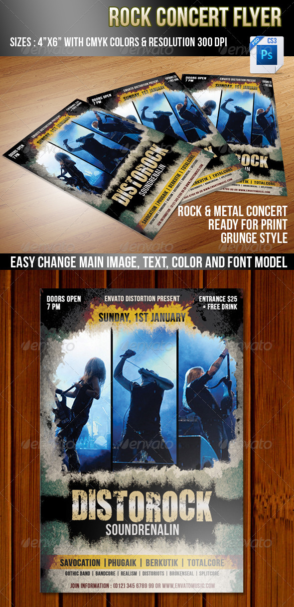 GraphicRiver Rock Concert 3585475