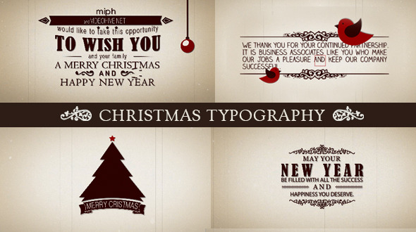 VideoHive Christmas Typography 3585478