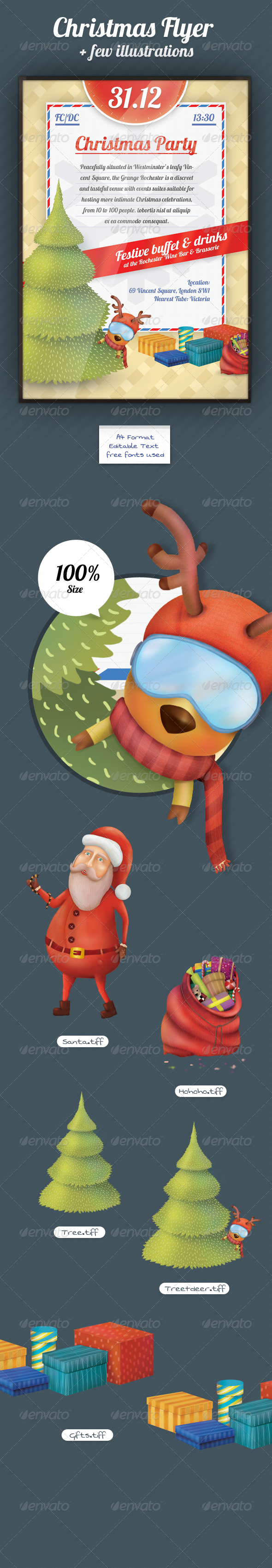 GraphicRiver Xmas Flyer & Mascot 3525298