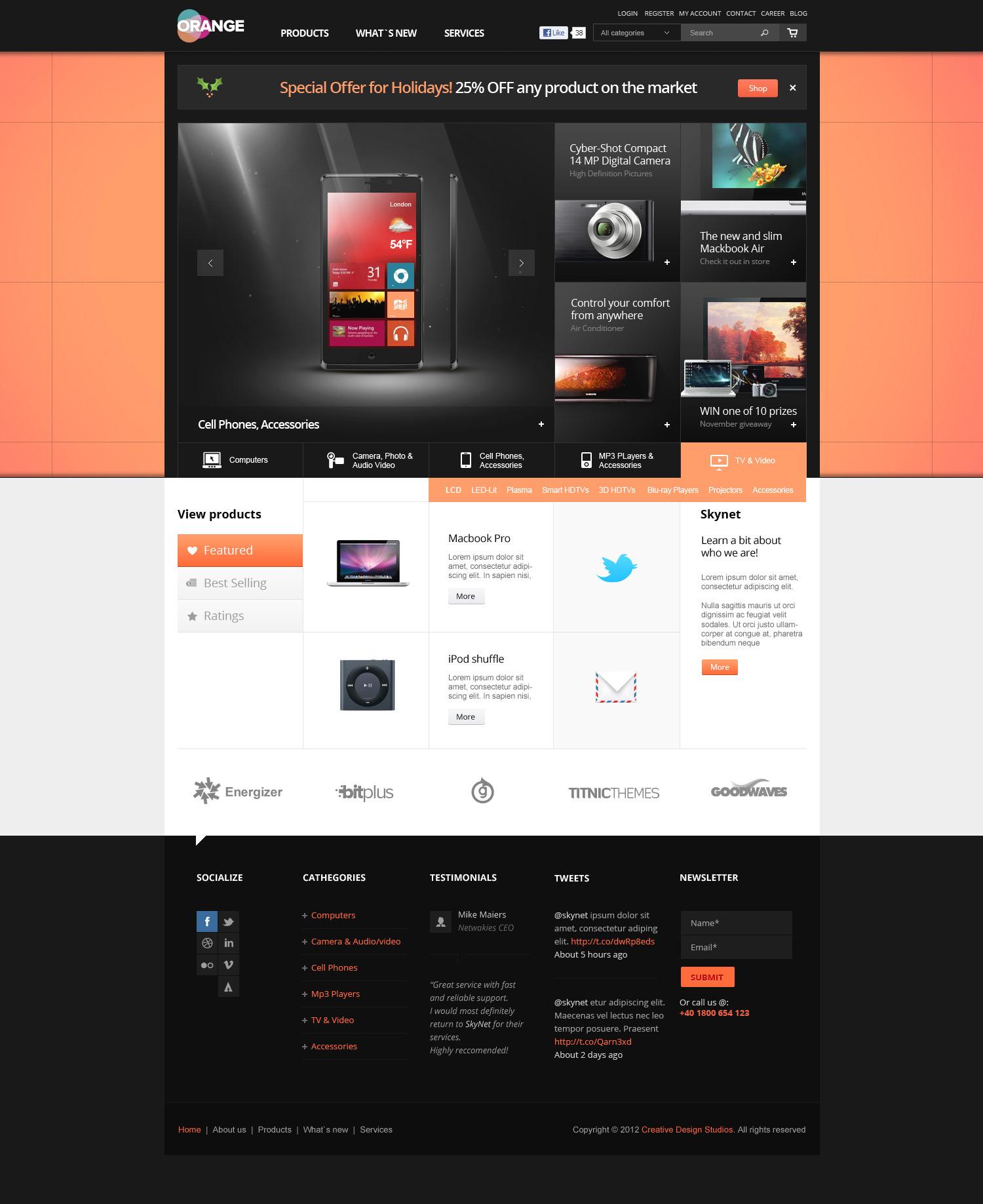 Orange - eCommerce Multipurpose PSD Template
