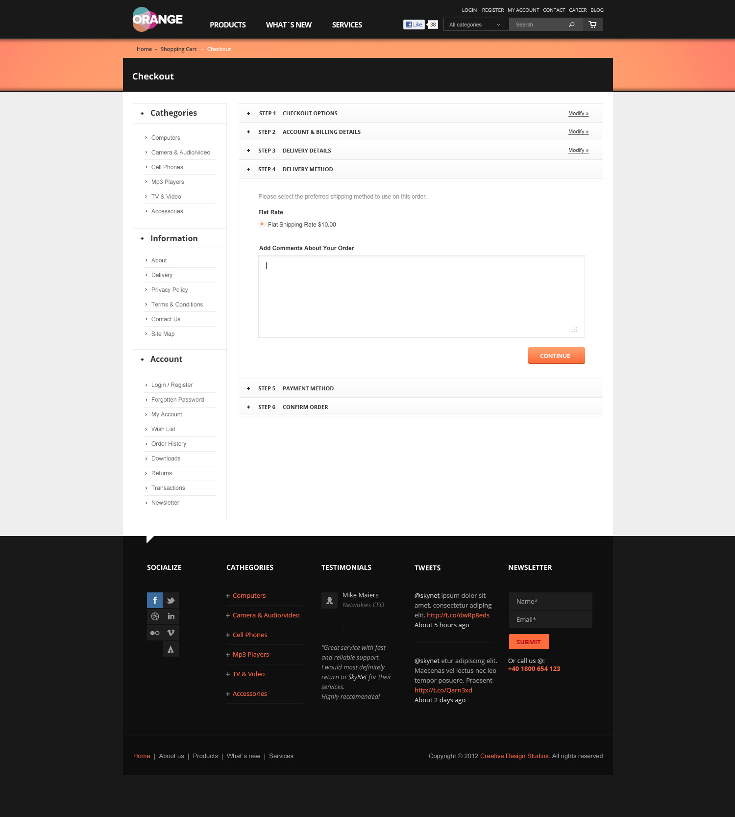 Orange - eCommerce Multipurpose PSD Template