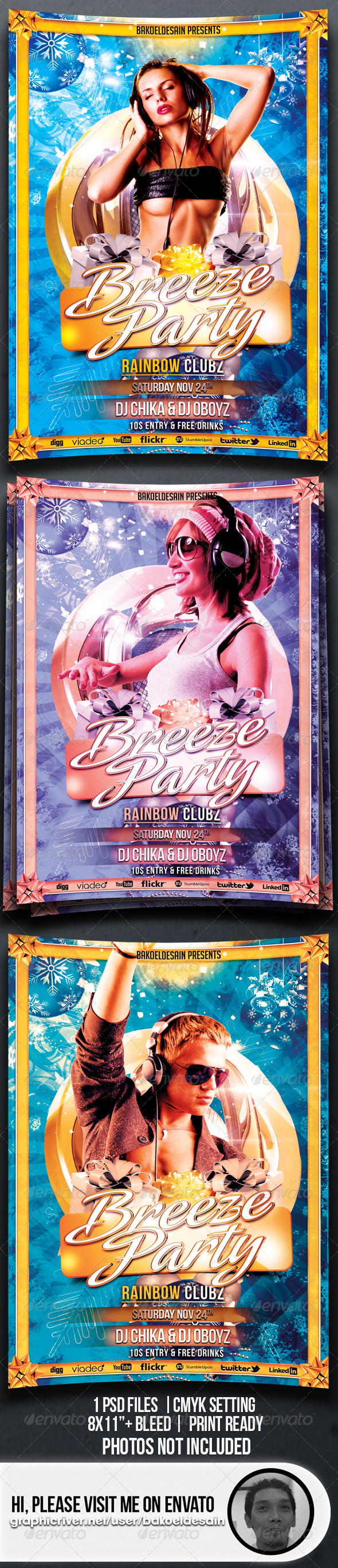 GraphicRiver Breeze Party Flyer 3544699