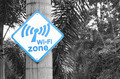Wi-Fi zone sign on tree