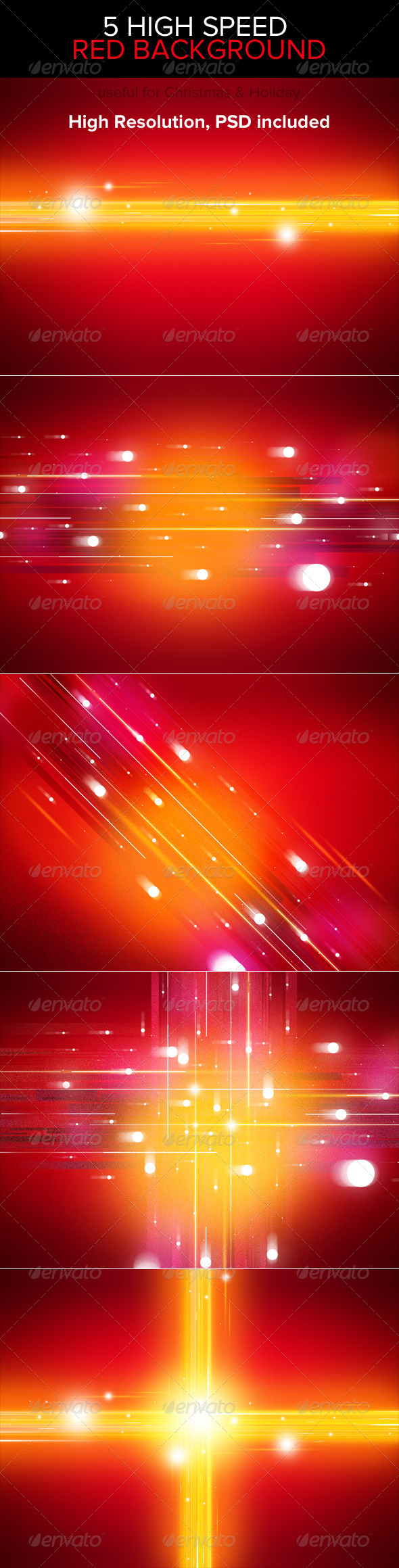 GraphicRiver High Speed Red Backgrounds 3586822