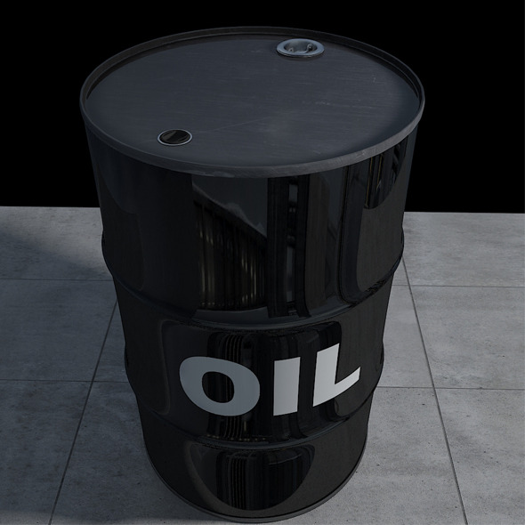 3DOcean Realistic Oil Barrel with Textures and UV Maps 3587128