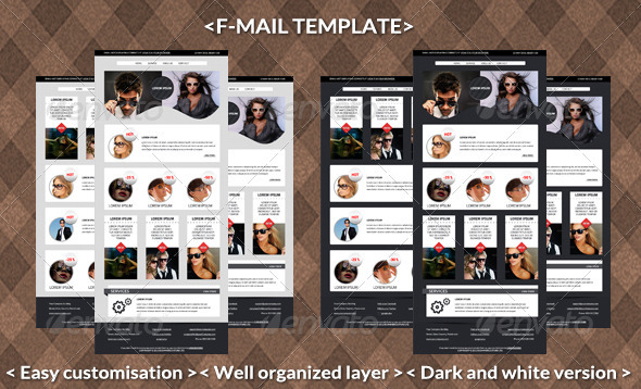 GraphicRiver F-mail Template 3587407