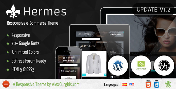 ThemeForest Hermes Fullscreen e-Commerce WordPress Theme 3017466
