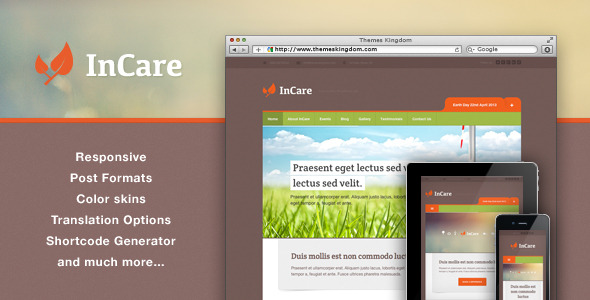 InCare - Responsive Eco/NonProfit WordPress Theme