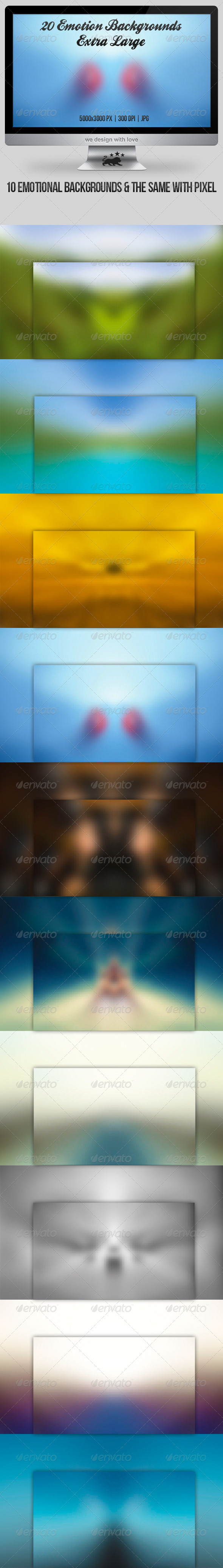GraphicRiver 20 Emotion Blurry Backgrounds Extra Large 3587440