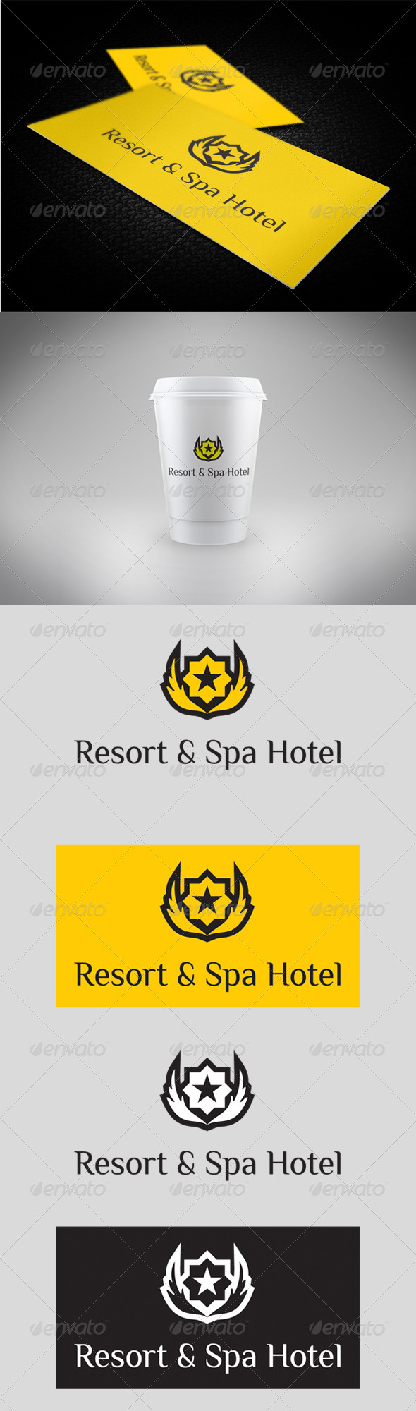 Resort & Spa Hotel Logo - Symbols Logo Templates