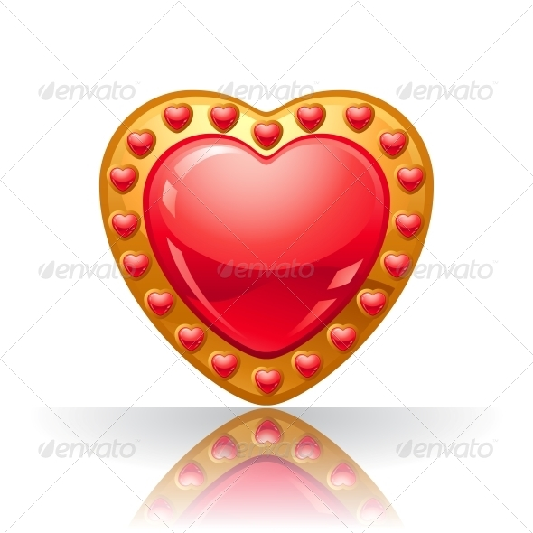 GraphicRiver Glossy Big Red Jewellery Heart 3587475