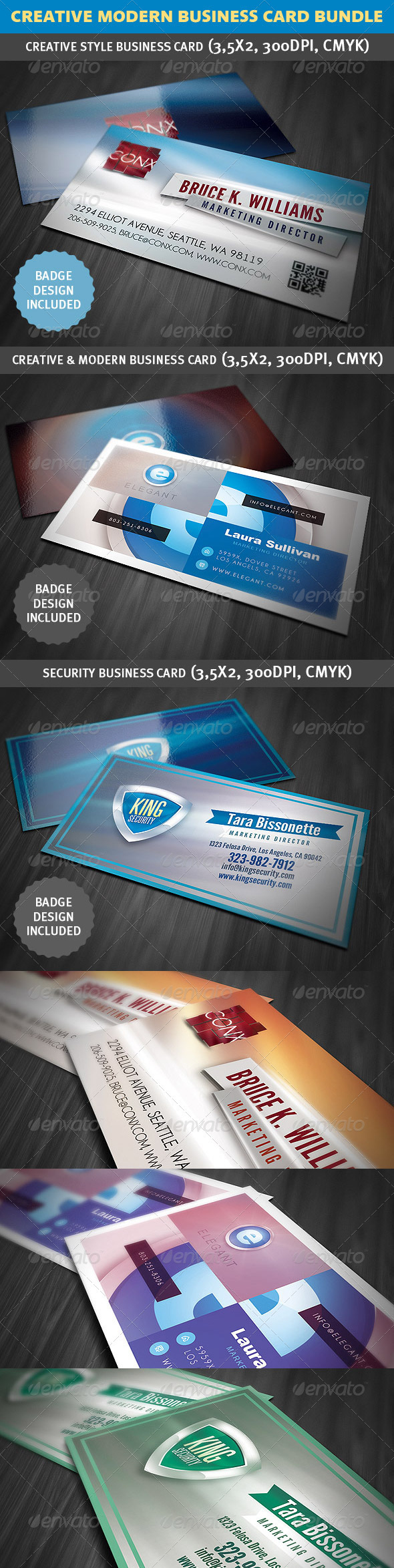 GraphicRiver Creative Modern Business Card Bundle 3587670