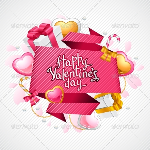 GraphicRiver Valentine s Day Vector Background 3587751