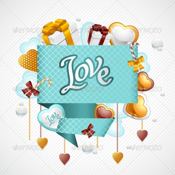 Valentine s Day Vector Background