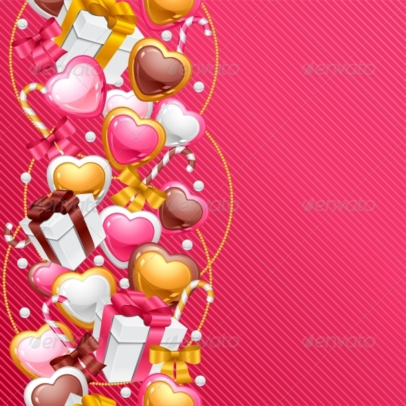 GraphicRiver Valentine s Day Vector Background 3587972