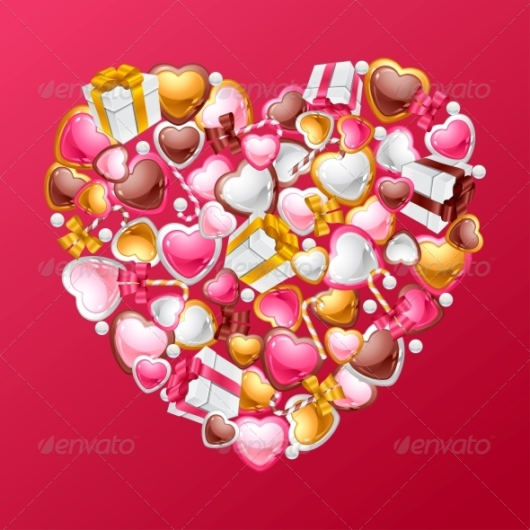 GraphicRiver Valentine s Day Vector Background 3587976