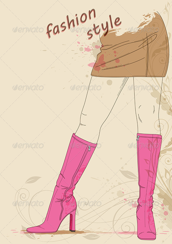 GraphicRiver Female Legs in Boots 3588346