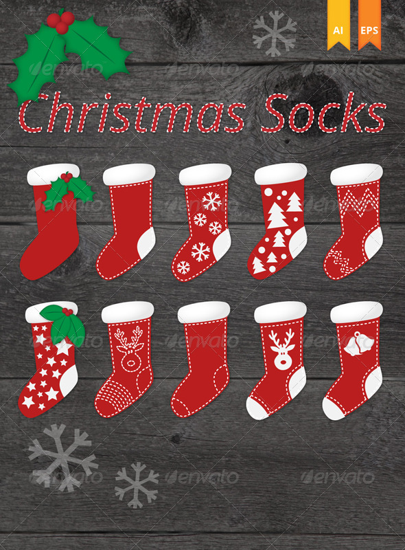 GraphicRiver Christmas Socks 3588393