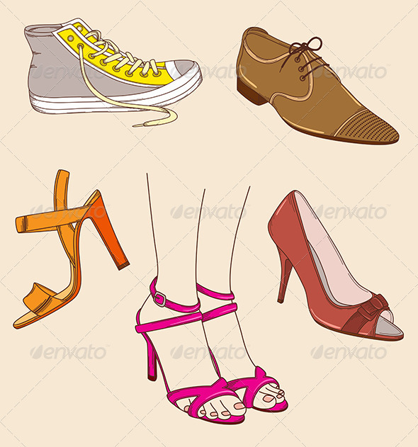 GraphicRiver Shoes and Legs 3588398