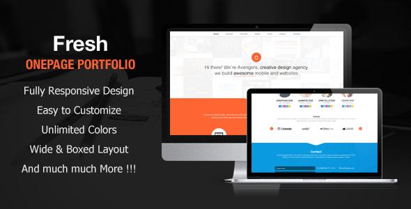 Fresh Portfolio Onepage Multipurpose Theme - Portfolio Creative