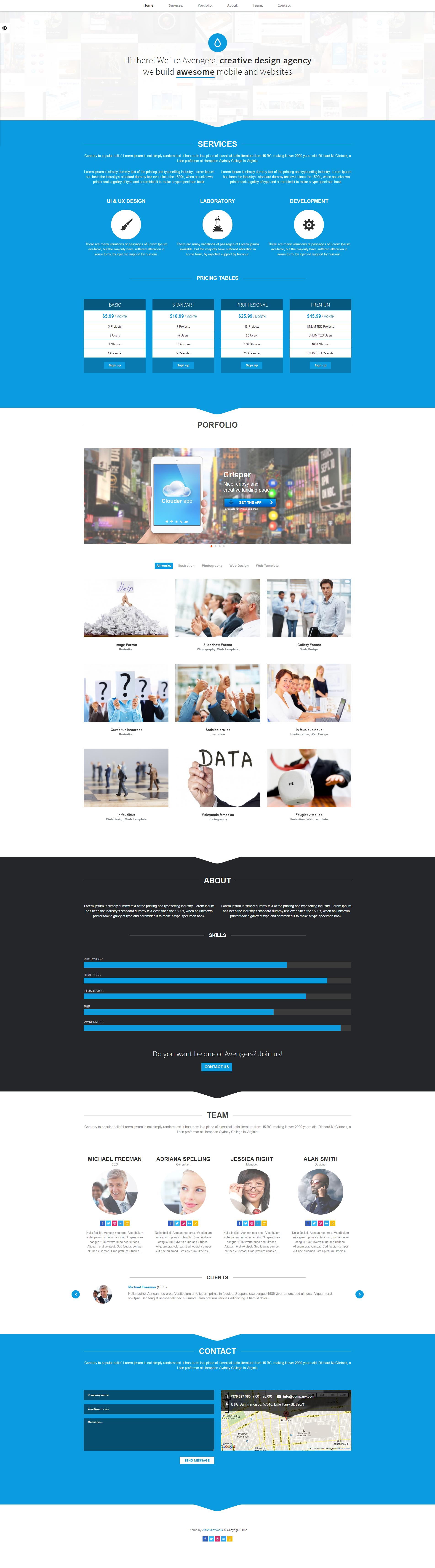 Fresh Portfolio Onepage Multipurpose Theme - Screenshot 2