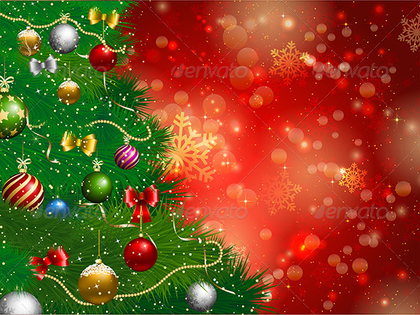 GraphicRiver Christmas Tree Background 3588540
