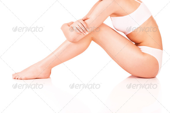 female body in underwear - Stock Photo - Images